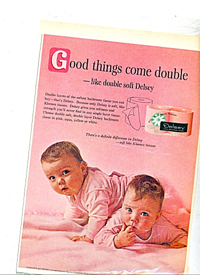 1963 - Delsey kleenex tissues ad (Image1)