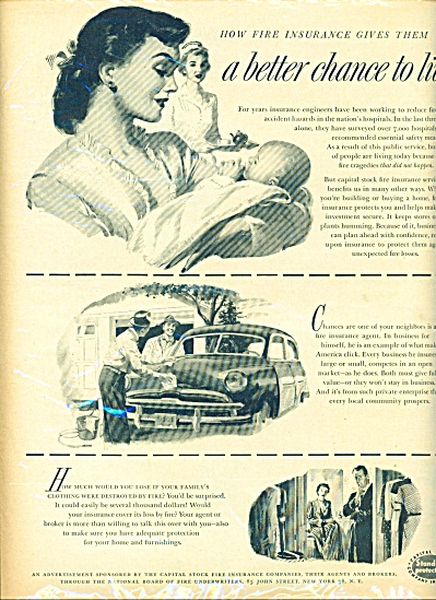 1953 - Capital stock fire insurance ad (Image1)