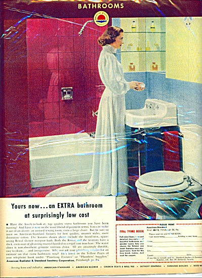1953 - American Standard bathrooms ad (Image1)