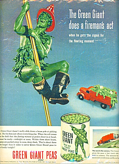 1953 - Green giant peas ad (Image1)