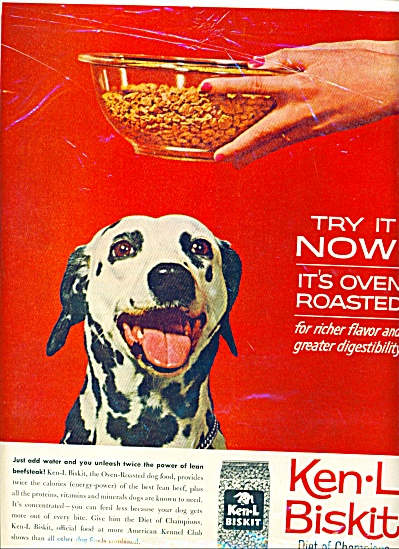 1961 - Ken-L Biskit dog food ad (Image1)