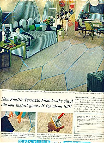 1961 -= Kentile vinyl floors ad ASBESTOS (Image1)