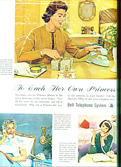1961 - Bell Telephone system ad PRINCESS PHONE (Image1)