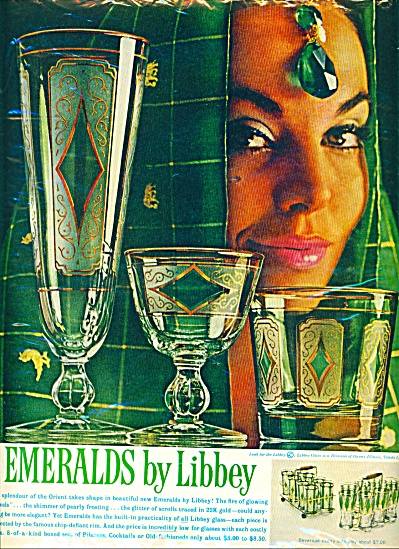 1961 - Emeralds By Libbey Ad