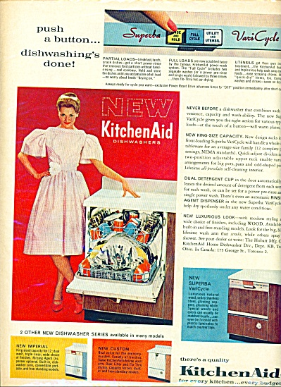 1960 - Kitchen Aid dishwashers ad (Image1)