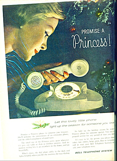1960 - Bell telephone system ad PROMISE A PRINCESS (Image1)