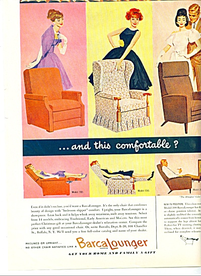 1960 - Barca Lounger Chairs Ad