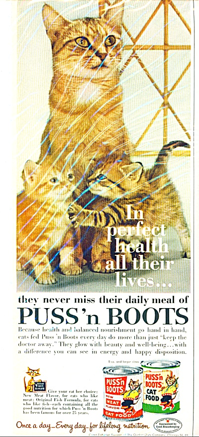 1961 - Puss 'n boots cat food ad (Image1)