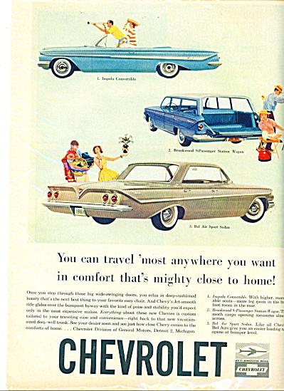 1961 -Chevrolet automobiles ad (Image1)