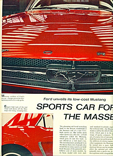 1964 -  Ford unveils the Mustang auto (Image1)