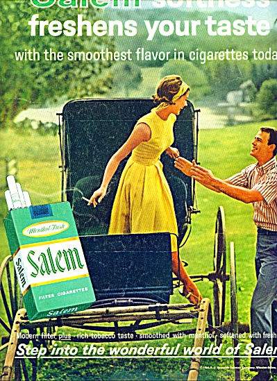 1964 -  Salem filter cigarettes ad AMISH BUGGY RIDE (Image1)