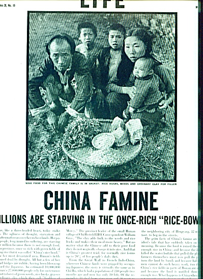 1946 -  China Famine story (Image1)