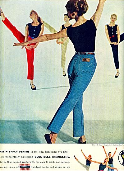 1957 - Blue Bell WRANGLER MODELS AD (Image1)