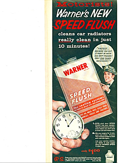 1957 - Warner Speed Flush For Cooling Systems