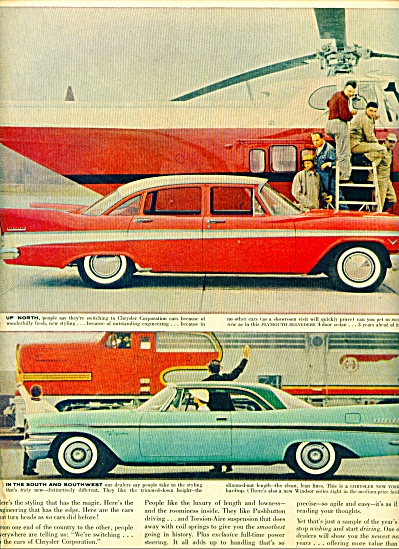 1957. Chrysler Corporation Automobiles Ad