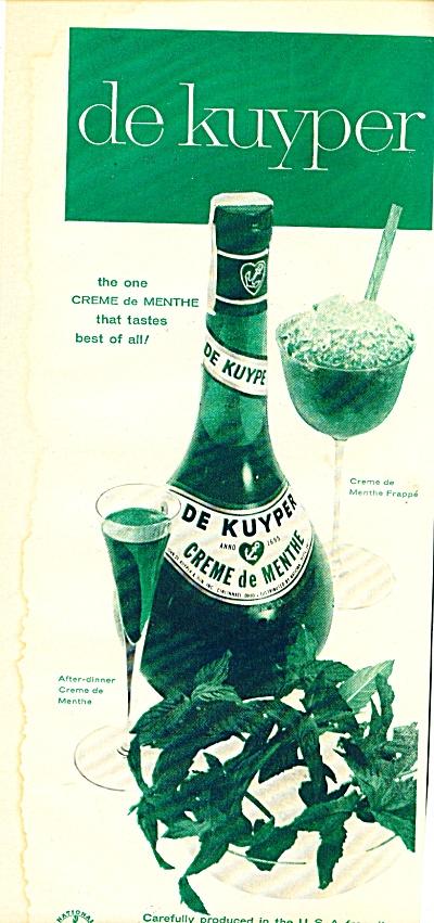 1957 -  De Kuyper creme de menthe ad (Image1)