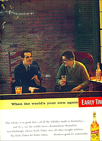 1957 - Early  times bourbon whisky ad (Image1)