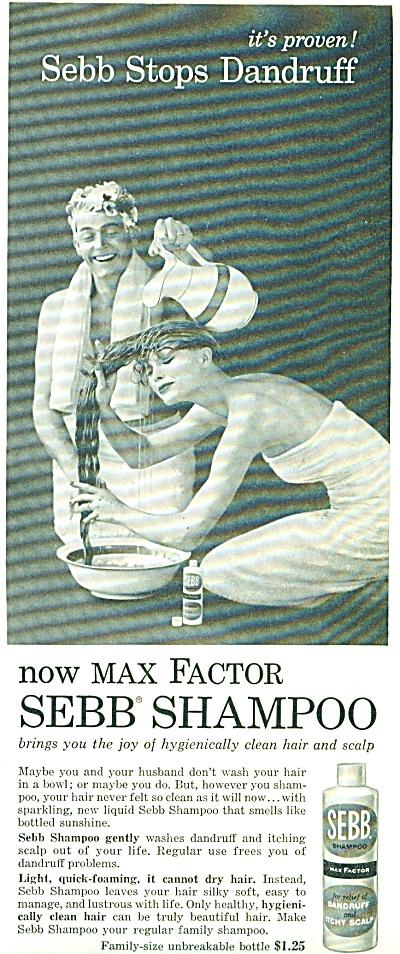 1957 - Max Factor SEBB shampoo ad (Image1)