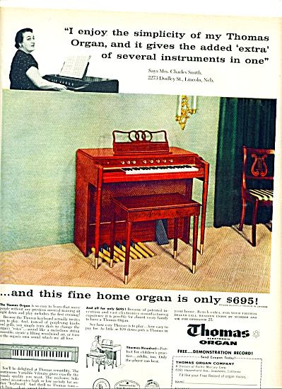 1957 - Thomas electronic organ ad (Image1)