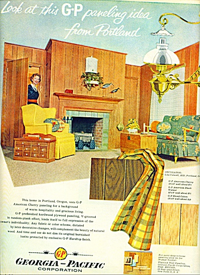 1957 - Georgia Pacific paneling ad (Image1)