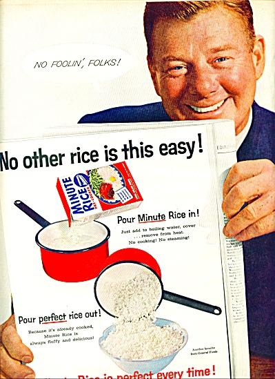 1957 - Minute Rice - ARTHUR GODFREY ad (Image1)