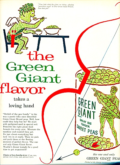 1957 - Green Giant Sweet Peas Ad