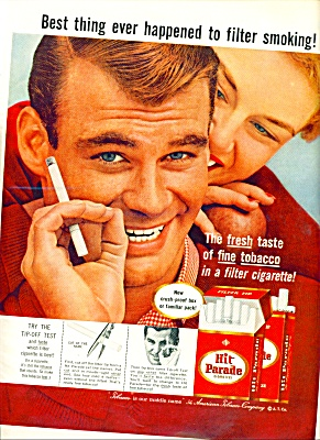 1957 - Hit Parade Cigarettes Ad