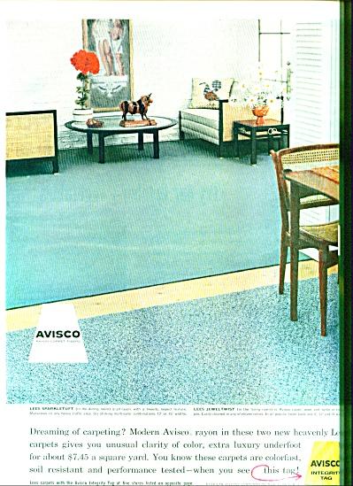 1957 =- Avisco - Lee sparkletuft carpeting ad (Image1)