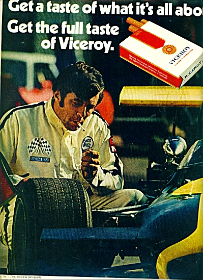 1972 - Viceroy filter cigarettes ad RACING (Image1)