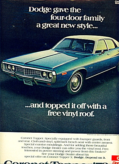 1972 - Dodge Coronet ad (Image1)
