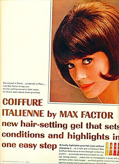 1964 -  Max Factor Coffure Italienne ad (Image1)