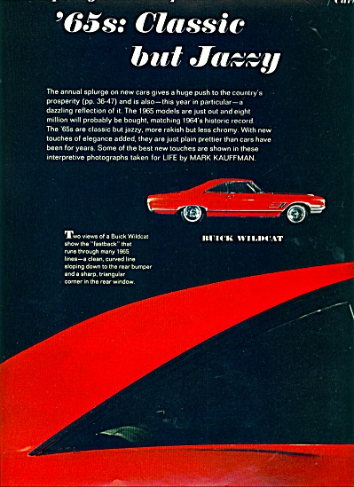 1964 - 65's new classic automobiles ad (Image1)