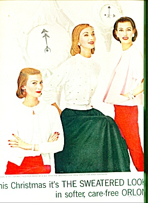 1955 -  Dupont sweatered look in orlon ad (Image1)