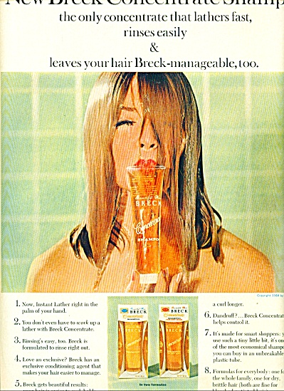 1964 -  New Breck shampoo ad (Image1)
