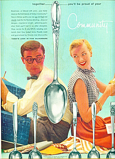 1955 - Community Silverware Ad