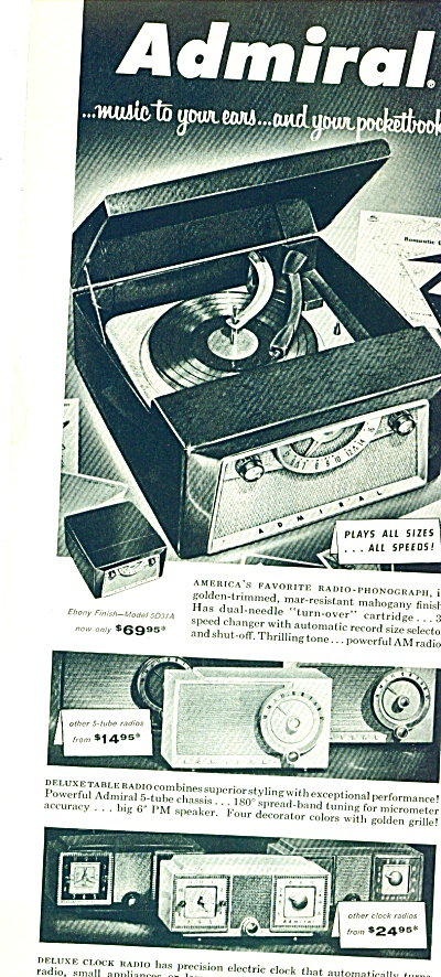 1955- Admiral portable record player ad (Image1)