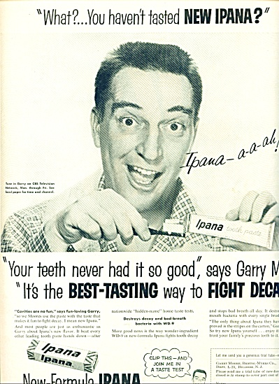 1955 -  Ipana tooth paste - GARRY MOORE (Image1)