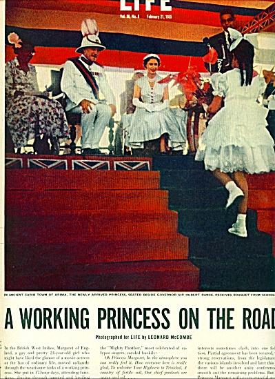 1955 - PRINCESS MARGARET  visit British W.Ind (Image1)