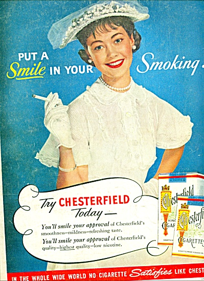 1955 - Chesterfield cigarettes ad (Image1)