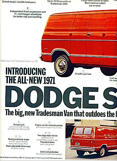 1970 -  Dodge Trucks - Tradesman Van ad (Image1)