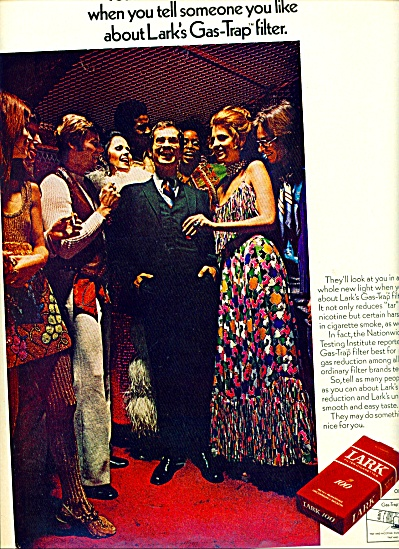 1970 - Lark King Size Cigarettes Ad Models Party