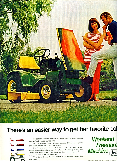 1970 - John Deere Lawn Tractor Ad Weekend Freedom