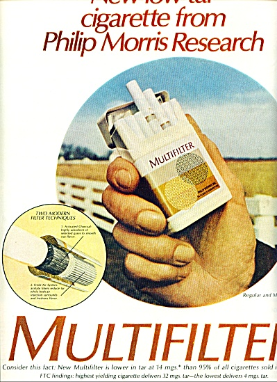 1970 - Multifilter Regular And Menthol Cigare