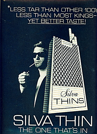 1970 - Silva Thin Cigarettes Ad