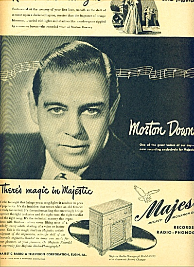 1946 -majestic Records, Phonographs Ad