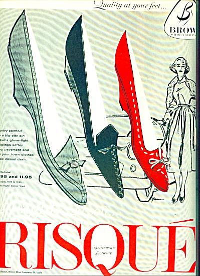 1953 - Risque sportswear footwear ad (Image1)