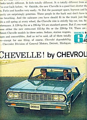 1964 -  Chevrolet Chevelle automobile ad (Image1)