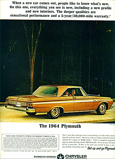 1964 -  The 1964 Plymouth Sport Fury ad (Image1)