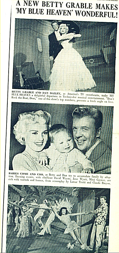 1950 -  Movie: My Blue Heaven  BETTY GRABLE Story (Image1)
