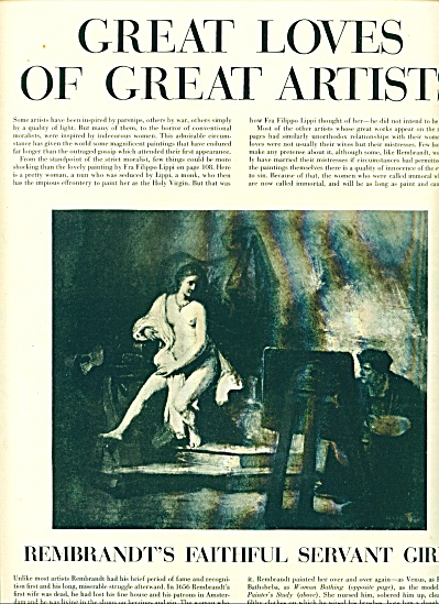 1950 -  Great Loves of Great artists article (Image1)